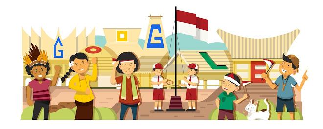 HUT RI 2014 (sumber gambar: Google Doodle)