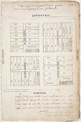 Rencana awal kebun (sumber: Universitas Leiden)