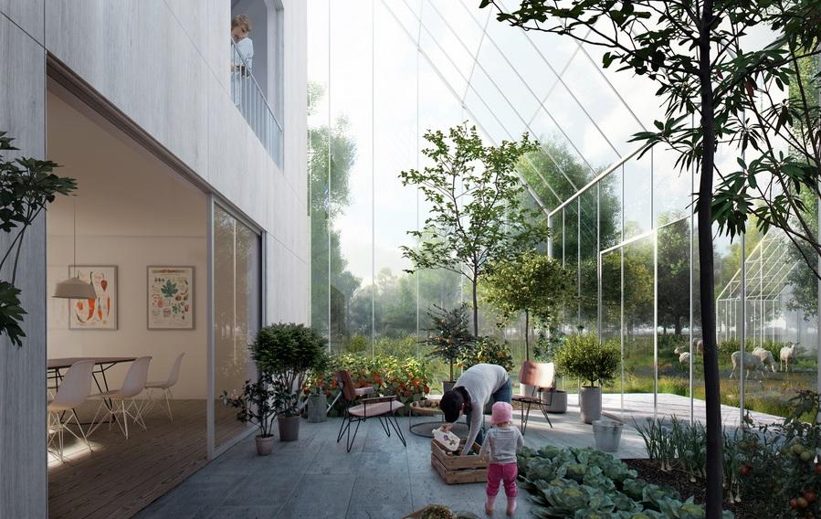 Desain lanskap halaman rumah (gambar dari sini)